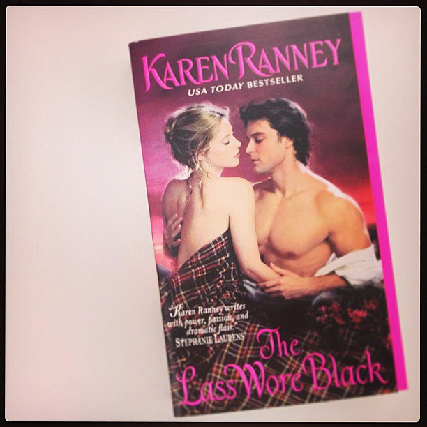We shared on our POPSUGAR Love & Sex Instagram Karen Ranney's steamy romance novel The Lass Wore Black.