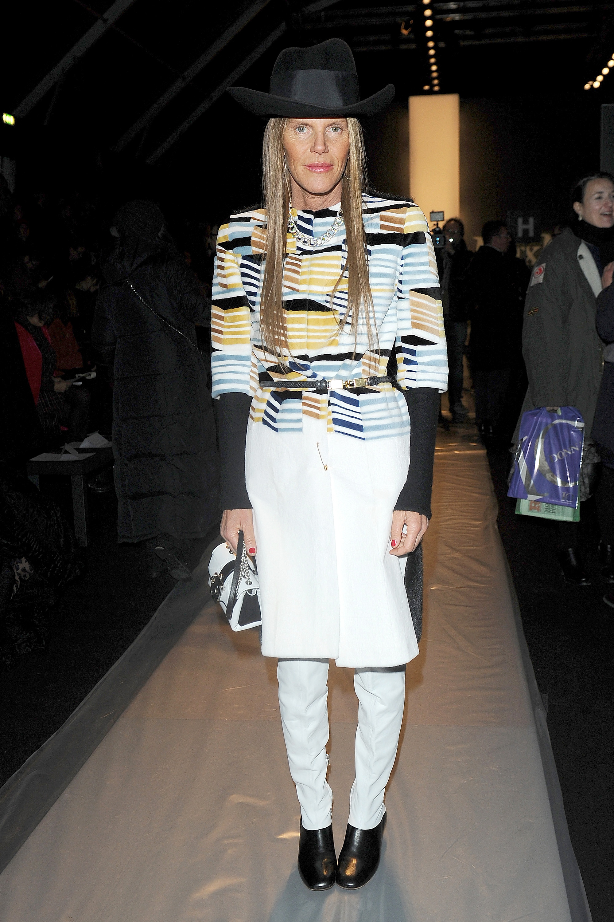 Anna Dello Russo at the Max Mara Fall 2013 sh