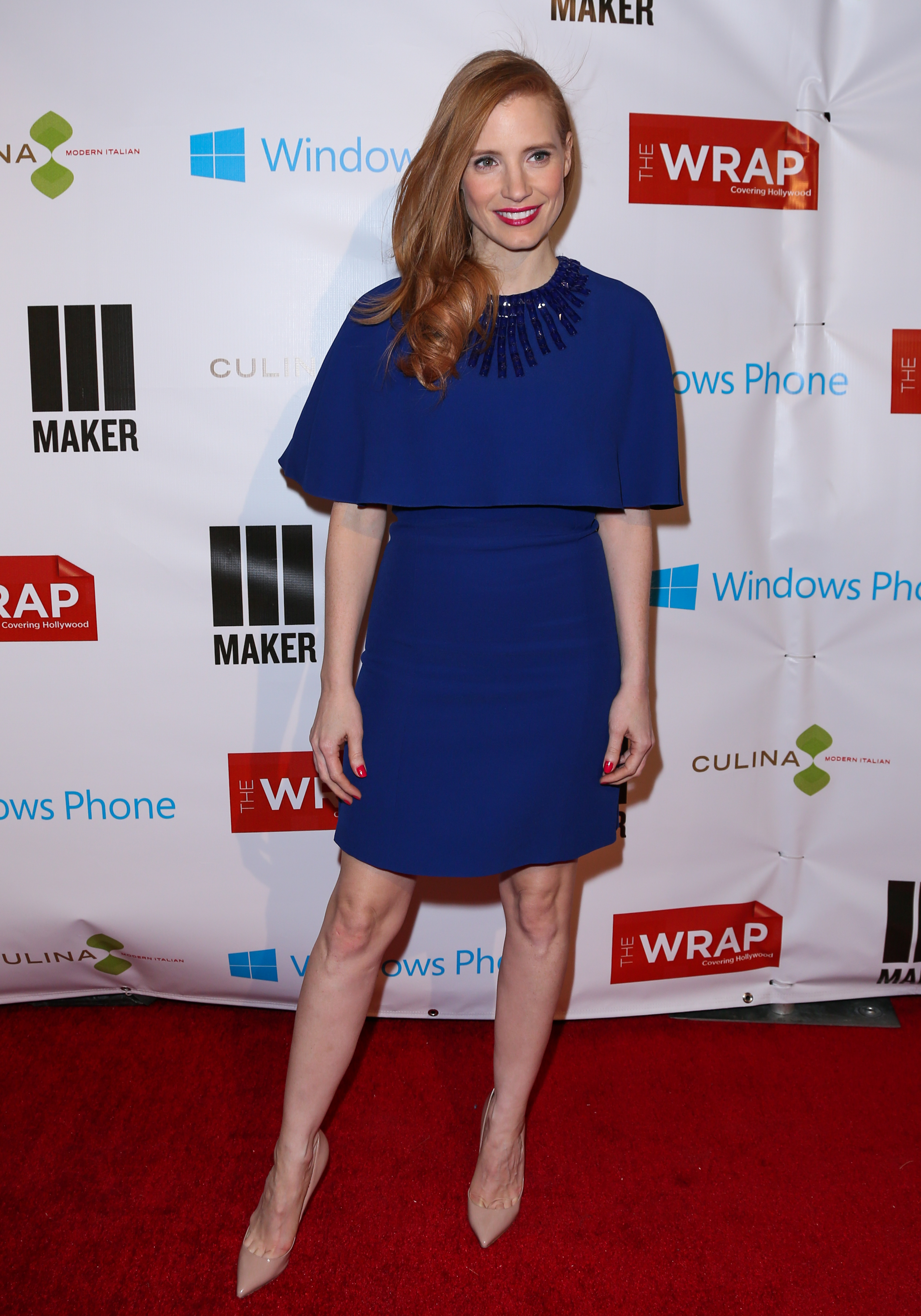Jessica Chastain at TheWrap's pre-Oscars party in Los Angeles.
