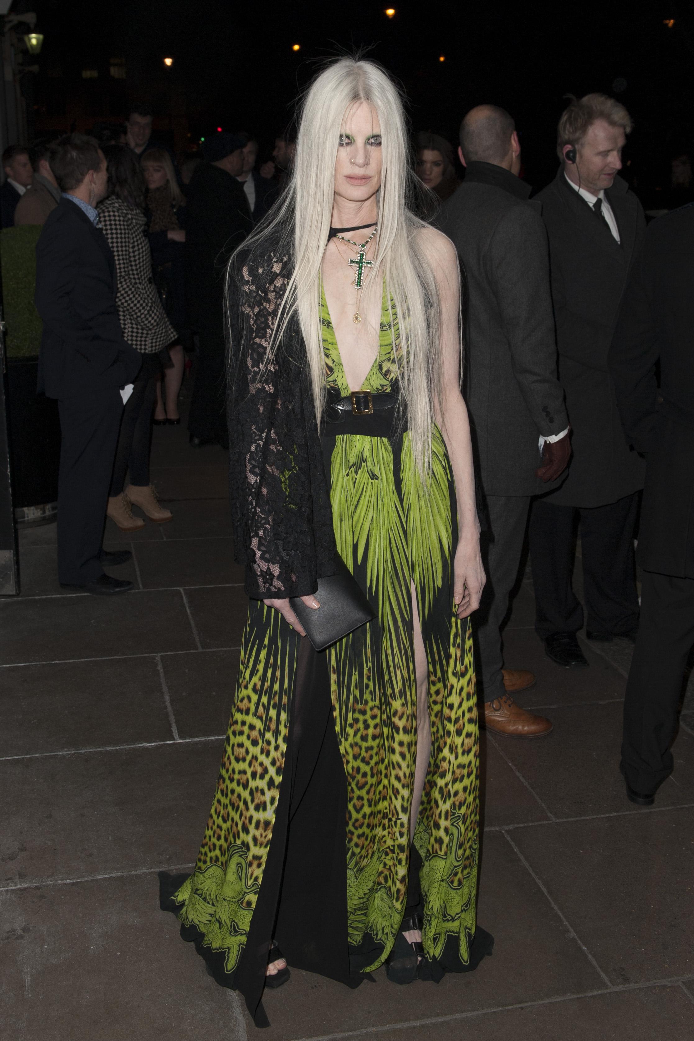 Kristen McMenamy at the Brit Awards in London