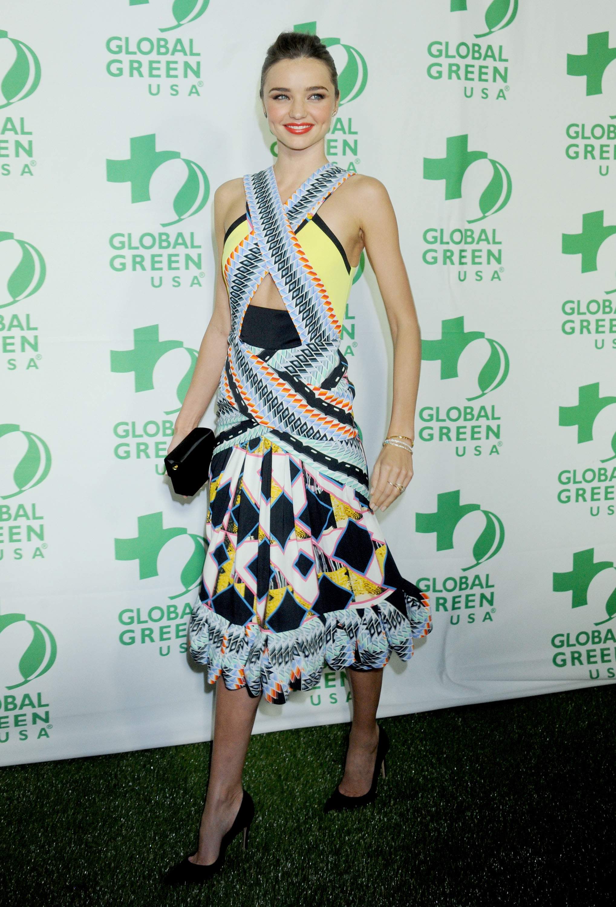 Miranda Kerr wore Spring 2013 Peter Pilotto at the Global Green USA pre-Oscars party in Los Angeles.