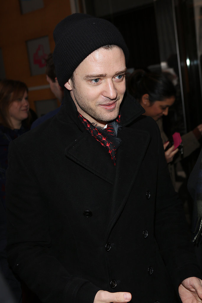 Justin Timberlake met with fans outside BBC Radio 1.