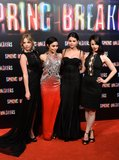 Vanessa Hudgens, Selena Gomez, Ashley Benson, and Rachel Korine brought Spring Breakers to Europe for a series of promotional events, including a premiere in Madrid.