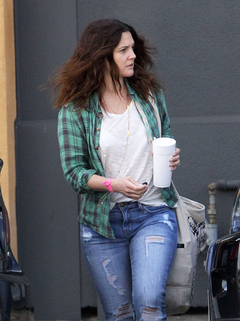 Drew Barrymore kept it casual in Santa Monica.