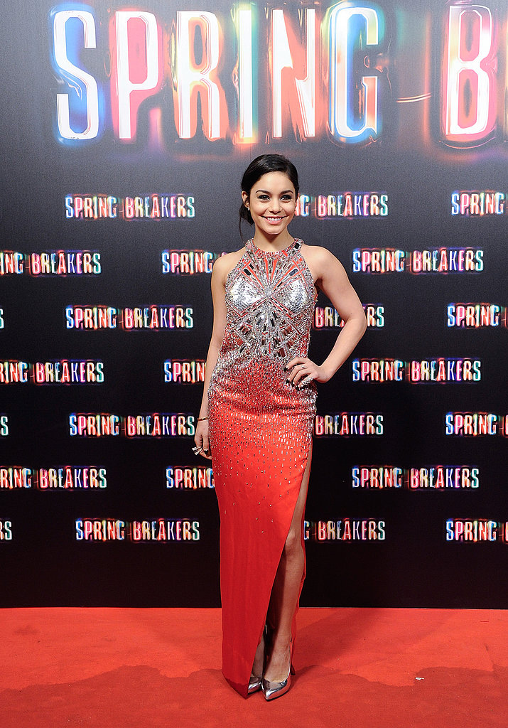 Vanessa Hudgens walked the red carpet at the Spring Breakers premiere.