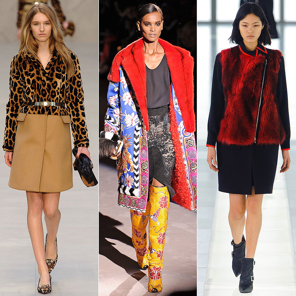 Animal prints, bright colors, and shining metallics were all over the runways of London.
