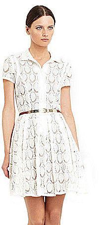 BCBGMAXAZRIA Kiran Lace Shirtdress