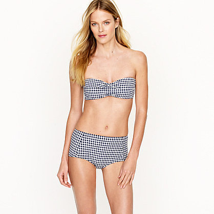 Gingham bow bandeau top