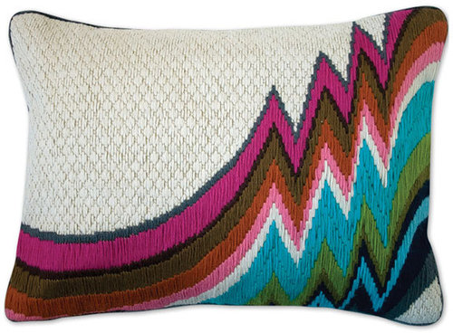 Jonathan Adler 'Jamaica Lane Bargello' Pillow
