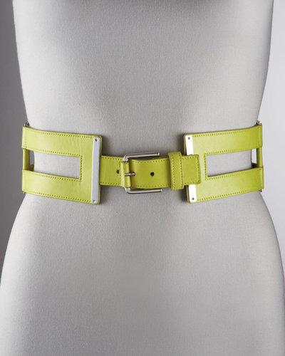 Oscar de la Renta Cutout Leather Belt