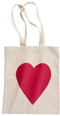 Alphabet bagsTM heart tote