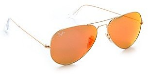 Ray-ban MIrrorred Matte Classic Aviator Sunglasses