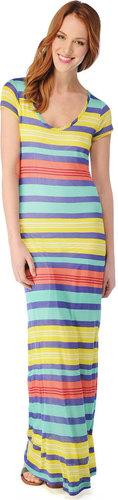 Beach Towel Stripe Maxi Dress