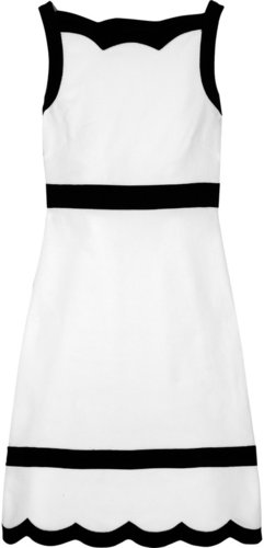 Valentino Contrast-trim cotton-blend piqué dress