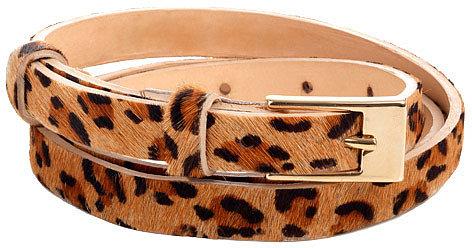 Leopard Skinny Belt