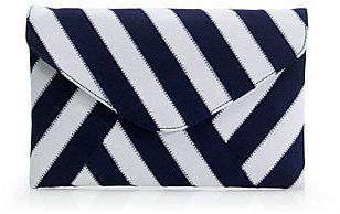 Invitation clutch in ribbon stripe