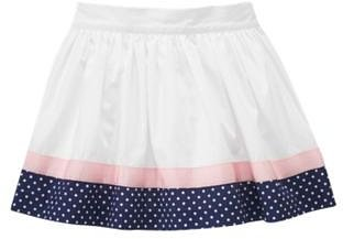 Ribbon Dot Trim Skirt