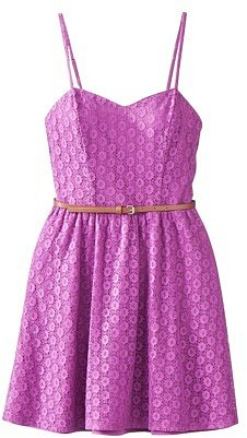 Mossimo Supply Co. Juniors Belted Skater Dress - Assorted Colors