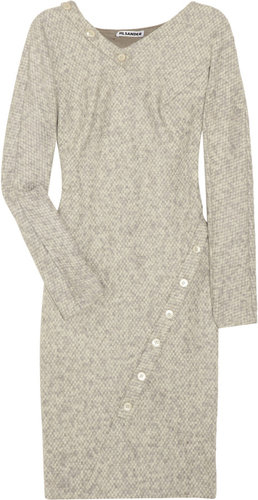 Jil Sander Asymmetric tweed dress