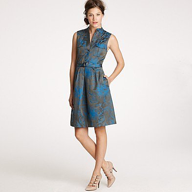 Bonnie dress in toile jacquard