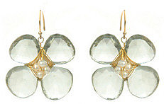 Amanda Rudey Big Bloom Green Amethyst Earrings