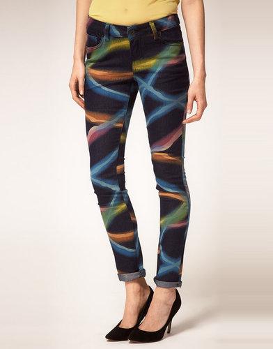 ASOS Skinny Jeans in Electric Rave Print #4