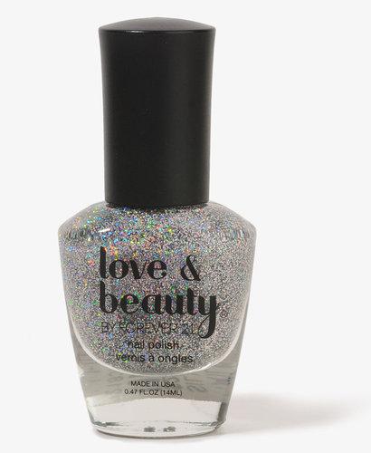 Love 21 Iridescent Silver Nail Polish