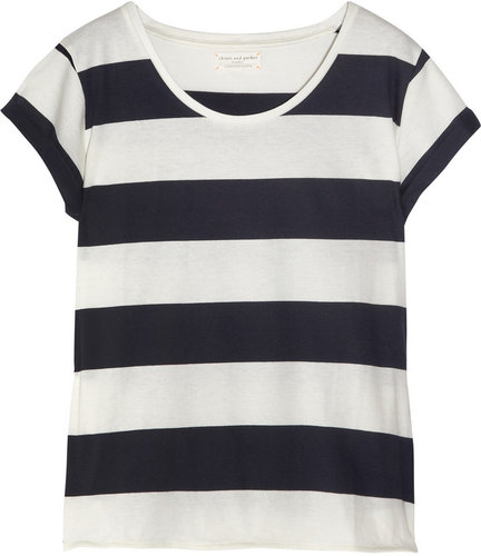 Chinti and Parker Striped organic cotton T-shirt