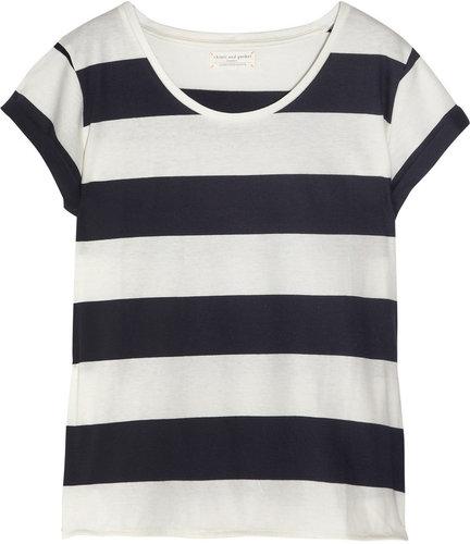 Chinti and Parker Striped organic cotton T-shirt