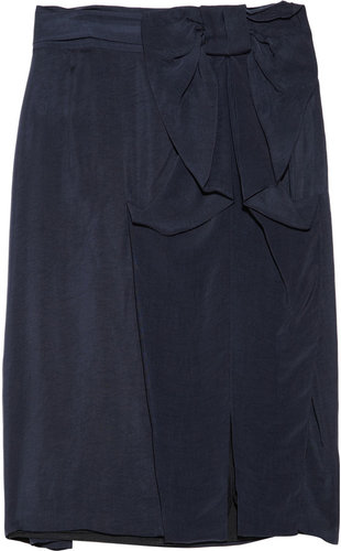 RED Valentino Brushed satin-twill skirt