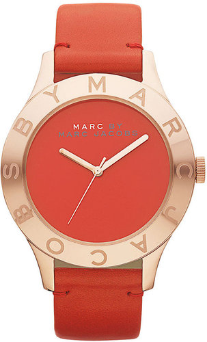Marc by Marc Jacobs Watch, Women's Tomato Red Leather Strap 40mm MBM1204