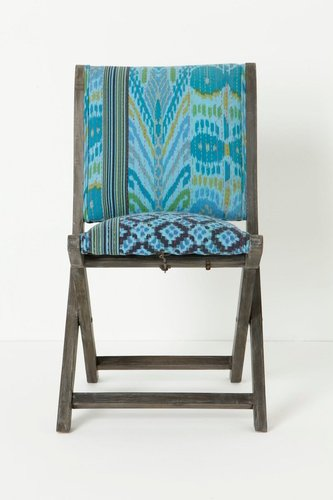 Overdyed Terai Chair, Turquoise