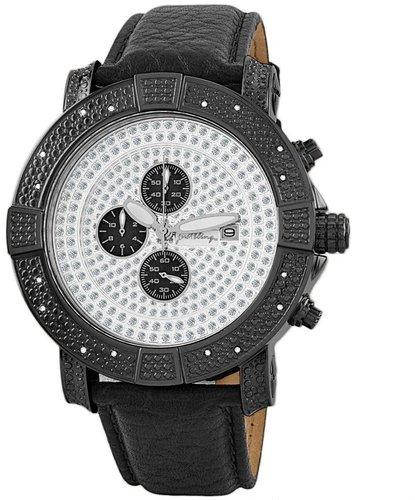 "Just Bling Men's JB-6115L-H "" Gotham"" Chronograph Pave Dial Diamond Watch"