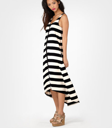 Betsey Johnson Pink Patch Hi-Low Stripe Maxi Dress SOLD OUT