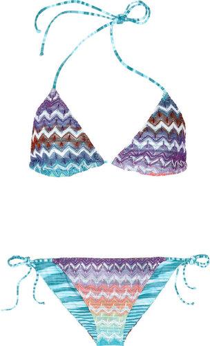 Missoni Cabras reversible crochet-knit triangle bikini