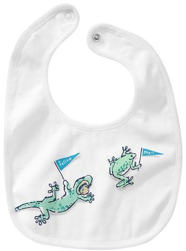 Lizard and frog bib