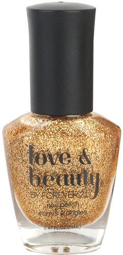 Love 21 Gold Glitter Nail Polish