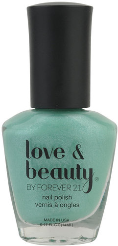 Love 21 Mint Shimmer Nail Polish