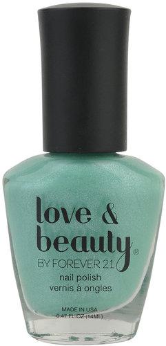 Love 21 Mint Shimmer Nail Polish