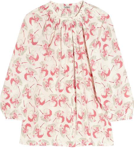 Tucker Floral-print silk blouse