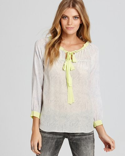 Rebecca Taylor Blouse - Bow Tie Python