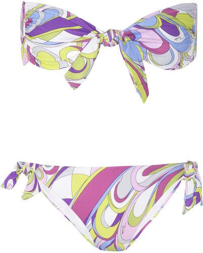 Emilio Pucci Baby Rio printed bandeau bikini