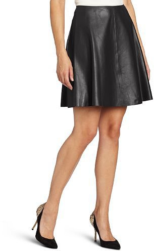 DKNYC Women's Lamb Flare Skirt