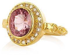 Jade Jagger Spinel, diamond  & yellow gold ring