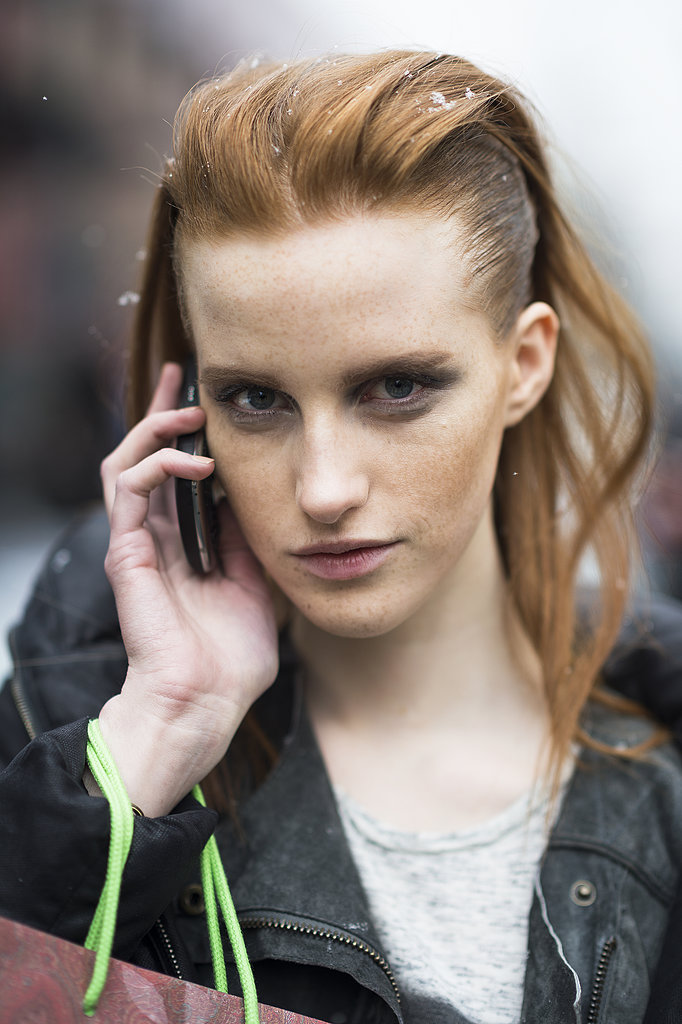 A casual-cool, swept-back style looked outstanding on model Magdalena Jasek. Source: Le 21ème | Adam Katz Sinding