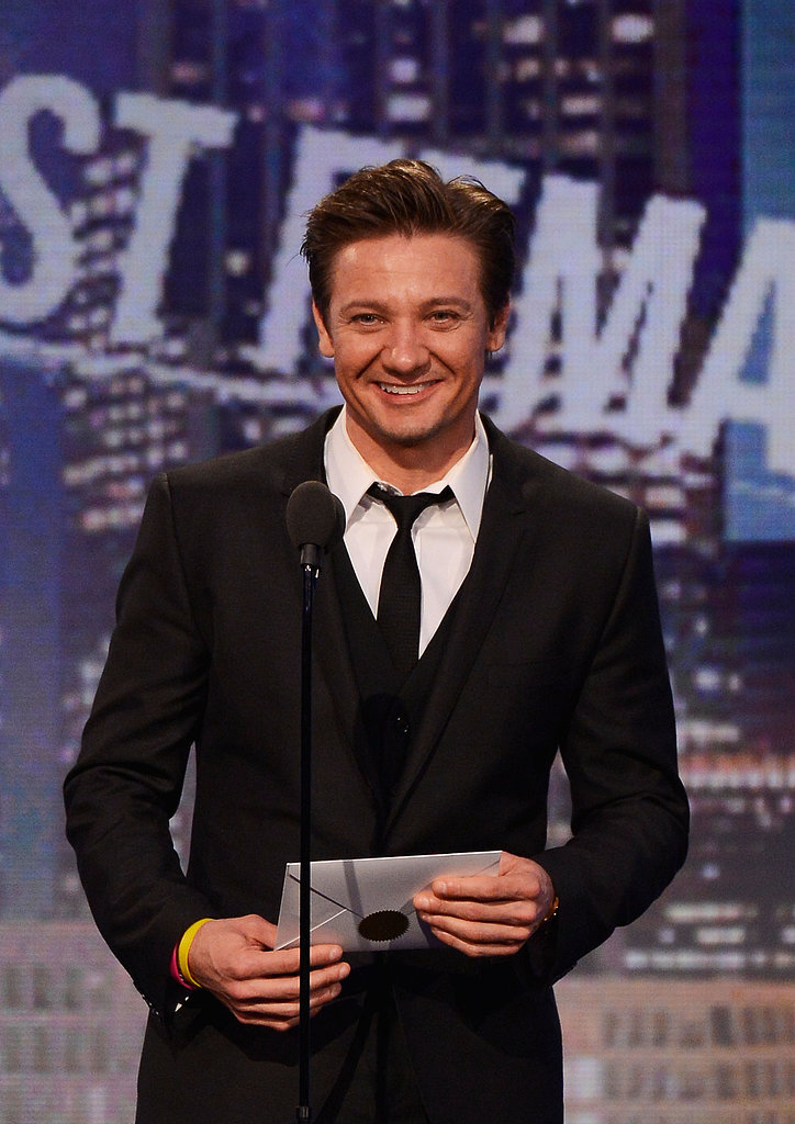 Jeremy Renner presented best male lead to John Hawkes.