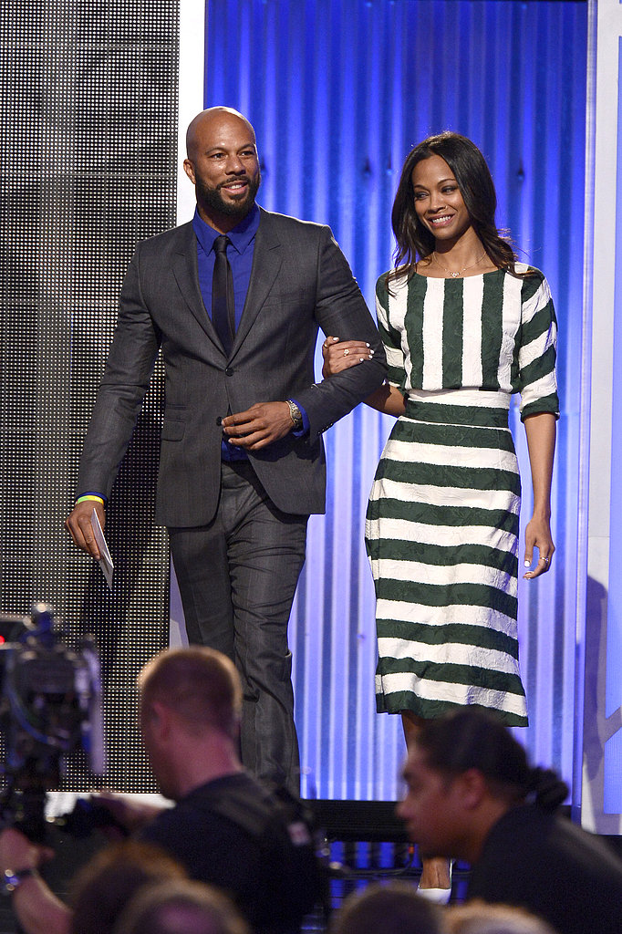 Common and Zoe Saldana presented at the 2013 Film Independent Spirit Awards.