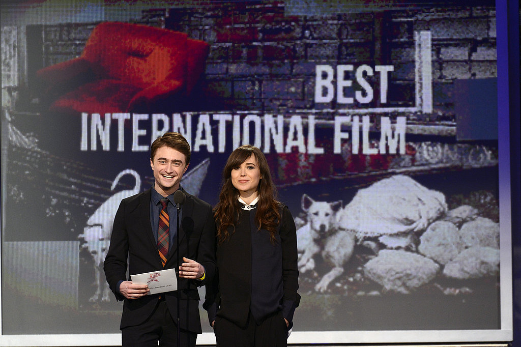 Daniel Radcliffe and Ellen Page presented at the Spirit Awards.