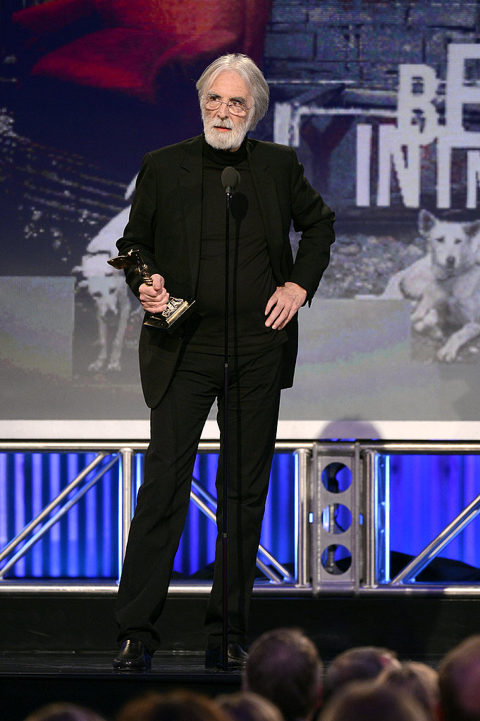 Michael Haneke and Amour accepted the award for best international film.