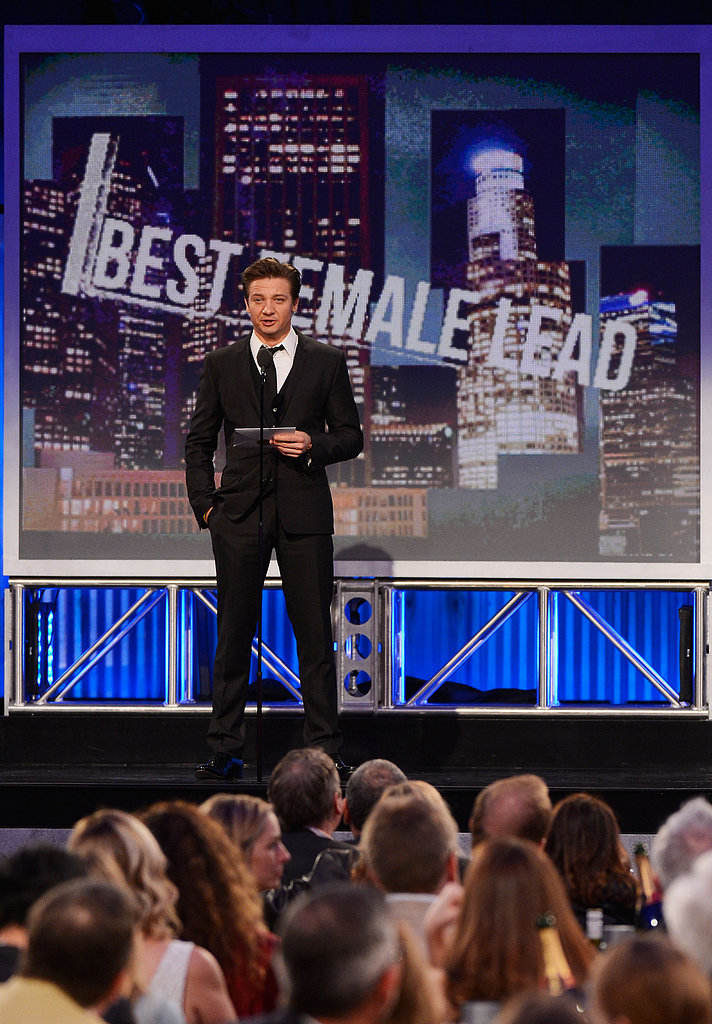 Jeremy Renner presented the award for best male lead.